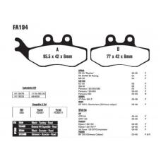 Купить Колодки тормозные FA194 (YS-3034) диск APRILIA\SYM\GAZ, КИТАЙ